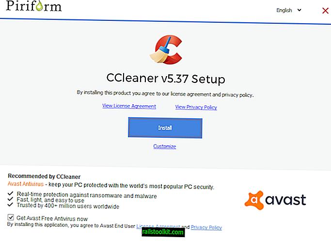 Avast, Avast Free Antivirus와 CCleaner 번들