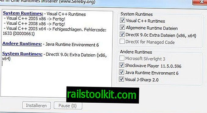 Installieren Sie fehlende Laufzeiten mit All In One Runtime