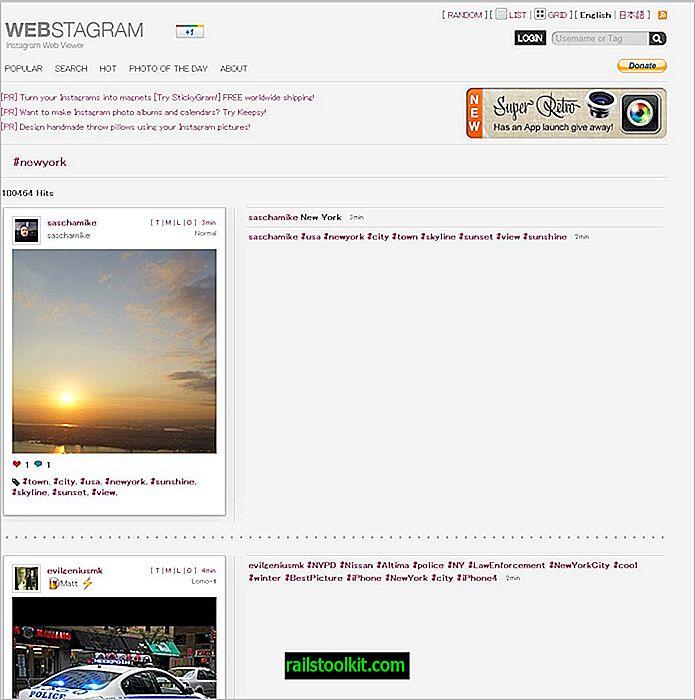 Webstagram, eine Instagr.am-Websuchmaschine
