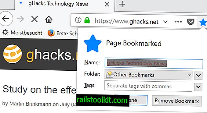Kako promijeniti zadanu mapu oznaka u Firefoxu