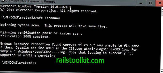 SFCFix viene al rescate cuando SFC / Scannow no puede reparar la corrupción de archivos de Windows