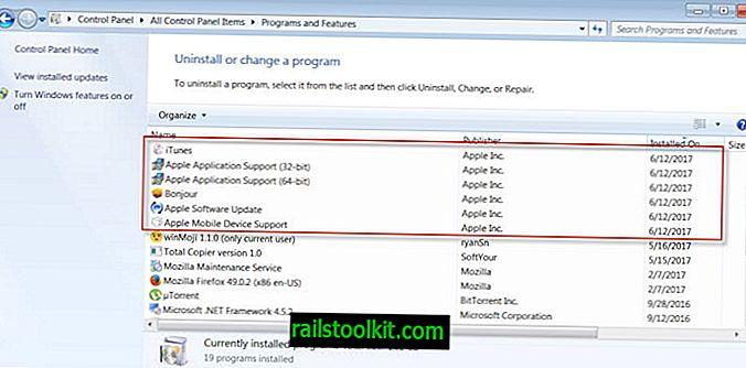 Kuinka poistaa ylimääräiset iTunes-komponentit Windowsista