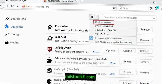 So aktualisieren Sie Firefox-Erweiterungen manuell