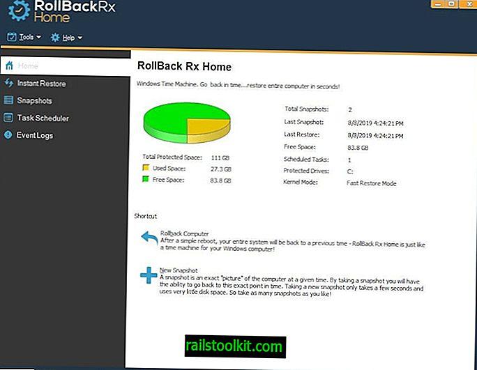 RollBack Rx ist eine kostenlose Windows Time Machine-Software, die besser ist als die Systemwiederherstellung
