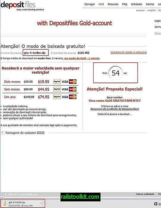 Depositfiles、ダウンロードページでカウントダウンをスキップ