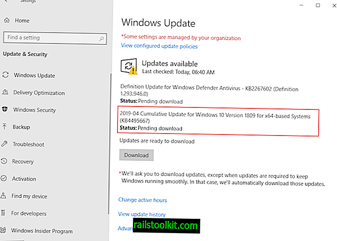 Windows 10 1809 Language Pack Issue, Microsoft suosittelee PC: n palauttamista