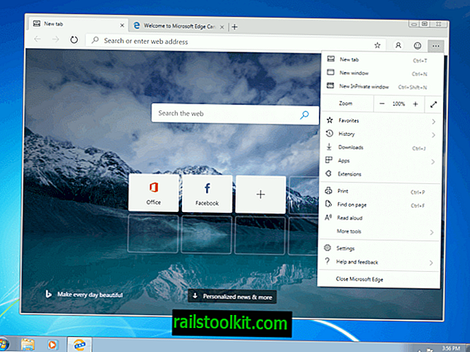 Windows 7 및 8.1 용 Microsoft Edge Chromium 출시