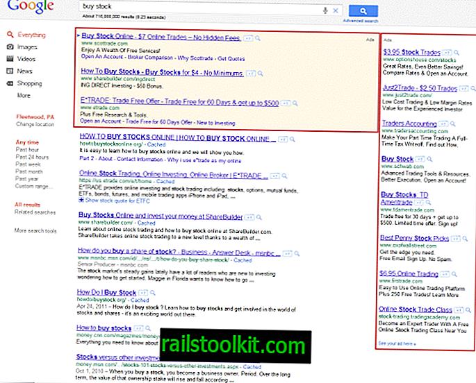 Cum să elimini anunțurile din paginile cu rezultatele căutării Google.com