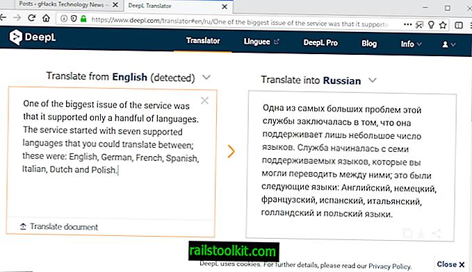 DeepL-käännöspalvelu lisää venäjän ja portugalin kielen luetteloon