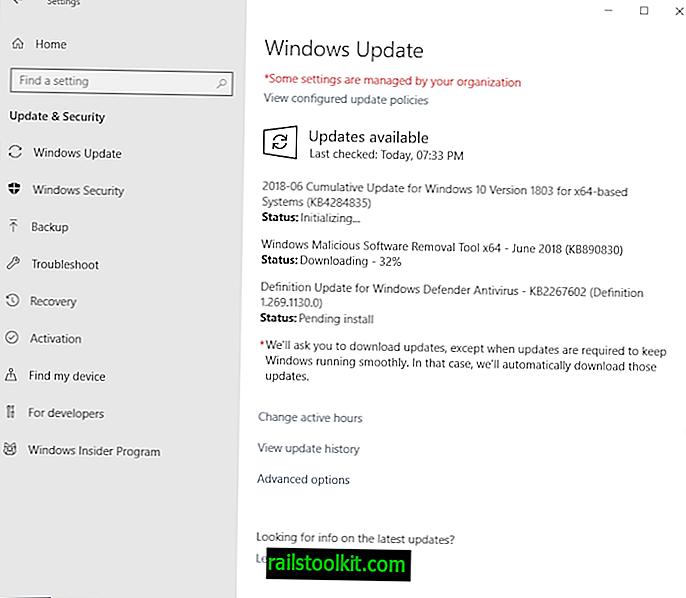 Übersicht über die Microsoft Windows-Sicherheitsupdates vom Juni 2018