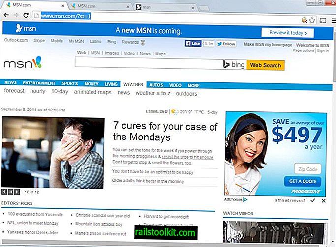 هذا ما تبدو عليه صفحة MSN الرئيسية