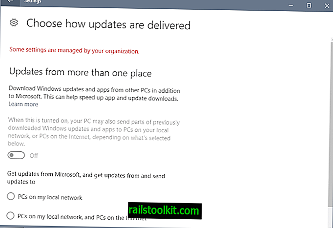 Explication de l'optimisation de la livraison de Windows 10 Update