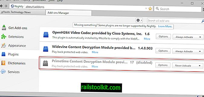 Firefox 52 : Adobe Primetime CDM 제거