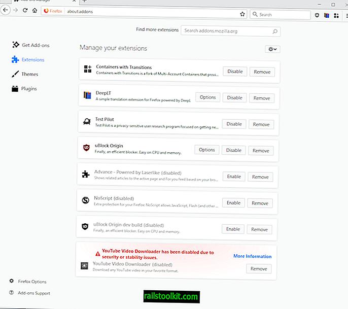 Как да уплътните мениджъра на добавки на Firefox