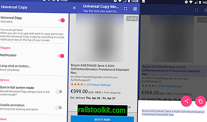 Szöveg másolása bármilyen Android alkalmazásból a Universal Copy segítségével