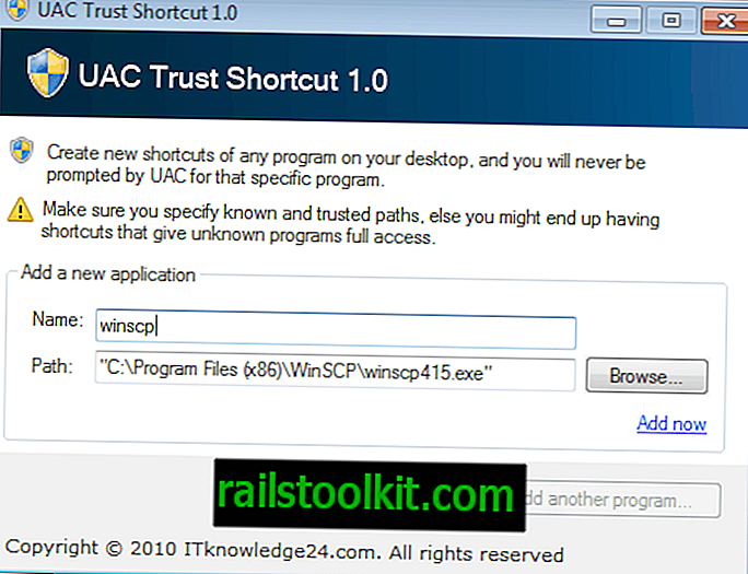 UAC Trust Shortcut ، تشغيل البرامج دون مطالبات UAC