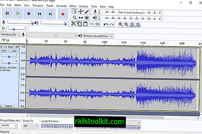 Sound Editor Audacity 2.3.2 Update integriert MP3 Encoder