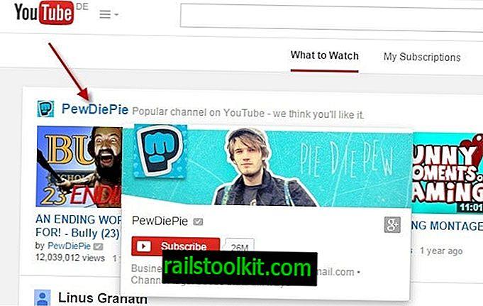 Kako trajno ukloniti preporuke kanala na YouTubeu