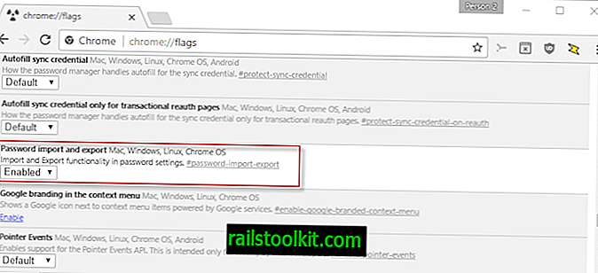 Google Chrome: export a import hesla