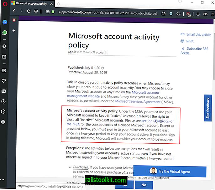 Microsoft potrebbe chiudere gli account dopo due anni di inattività, a meno che ...