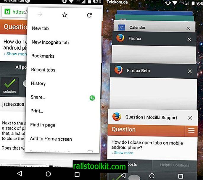 Android 5.0 이상의 Chrome에서 열린 탭을 닫는 방법